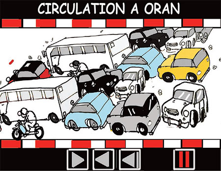 Circulation à Oran - Dessins et Caricatures, Jony-Mar - La voix de l'Oranie - Gagdz.com