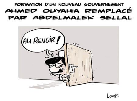 Formation d'un nouveau gouvernement: Ahmed Ouyahia remplacé par Abdelmalek Sellal - Dessins et Caricatures, Lounis Le jour d'Algérie - Gagdz.com