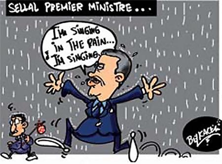 Sellal premier ministre - Belkacem - Le Courrier d'Algérie, Dessins et Caricatures - Gagdz.com