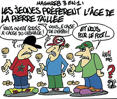 Maghreb 3 en 1: Les jeunes préfèrent l'age de la pièrre taillée - Aladin - Le Midi Libre, Dessins et Caricatures - Gagdz.com