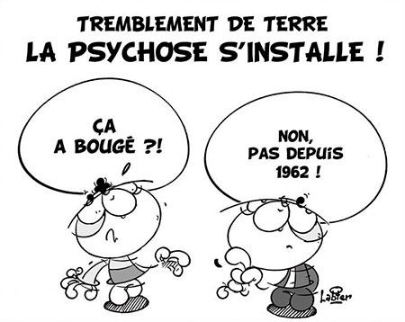 Tremblement de terre: la psychose s'installe - Dessins et Caricatures, Vitamine - Le Soir d'Algérie - Gagdz.com