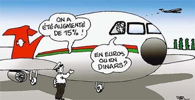 Compagnie nationale Air Algérie: Les salaires augmentés de 15% - Dessins et Caricatures, Maz - El Watan - Gagdz.com