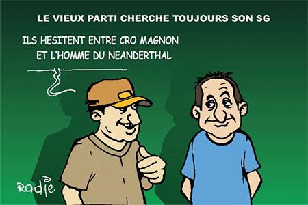 Le vieux parti cherche toujours son sg - Dessins et Caricatures, Ghir Hak - Les Débats - Gagdz.com