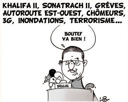 Khalifa II, Sonatrach II, grèves, autoroute est-ouest,chômeurs,3G,innondations,terrorisme... - Dessins et Caricatures, Vitamine - Le Soir d'Algérie - Gagdz.com