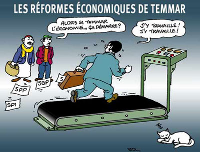 Les réformes économiques de Temmar - Dessins et Caricatures, Maz - El Watan - Gagdz.com