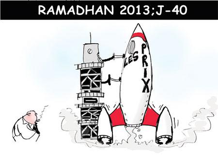 Ramadhan 2013: J-40 - Dessins et Caricatures, Jony-Mar - La voix de l'Oranie - Gagdz.com