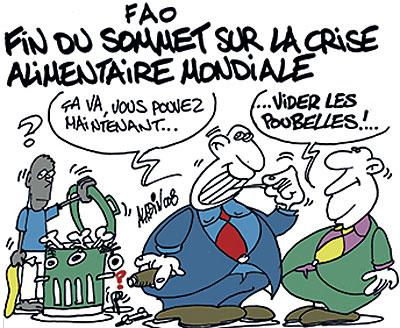 FAO: Fin du sommet sur la crise alimentaire mondiale - Aladin - Le Midi Libre, Dessins et Caricatures - Gagdz.com