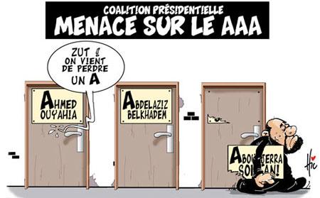 Coalition présidentielle: Menace sur le AAA - Dessins et Caricatures, Le Hic - El Watan - Gagdz.com