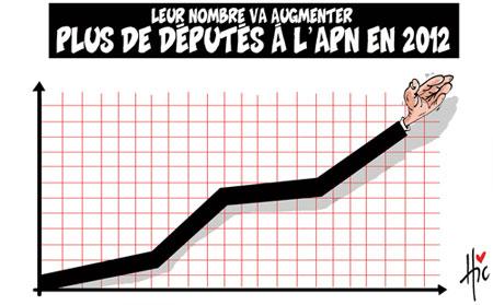 Leur nombre va augmenter: Plus de députés à l'apn en 2012 - Dessins et Caricatures, Le Hic - El Watan - Gagdz.com