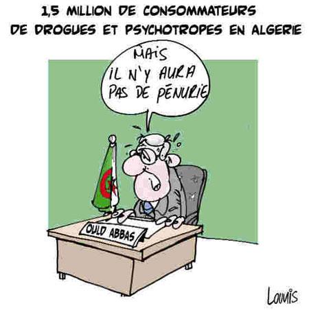 1,5 millions de consommateurs de drogues et psychotropes en Algérie - Dessins et Caricatures, Lounis Le jour d'Algérie - Gagdz.com