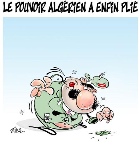 Le pouvoir algérien a enfin plié - Dessins et Caricatures, Dilem - Liberté - Gagdz.com
