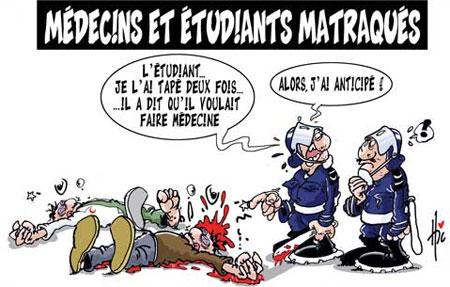 Médecins et étudiants matraqués - Dessins et Caricatures, Le Hic - El Watan - Gagdz.com