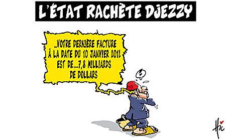L'état rachète Djezzy - Dessins et Caricatures, Le Hic - El Watan - Gagdz.com