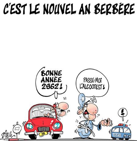 C'est le nouvel an berbère - Dessins et Caricatures, Dilem - Liberté - Gagdz.com