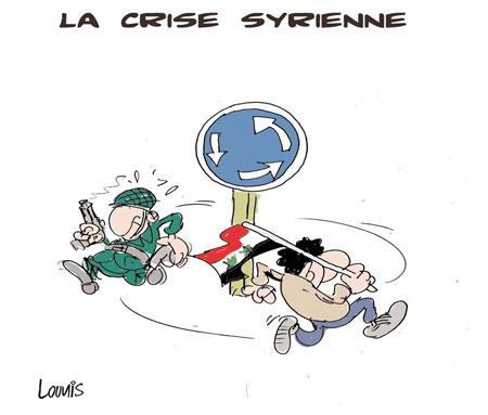 La crise syriènne - Dessins et Caricatures, Lounis Le jour d'Algérie - Gagdz.com