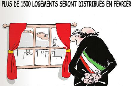 Plus de 1500 logements seront distribués en février - Dessins et Caricatures, Jony-Mar - La voix de l'Oranie - Gagdz.com