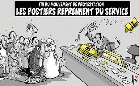 Les postiers reprennent du service - Dessins et Caricatures, Le Hic - El Watan - Gagdz.com