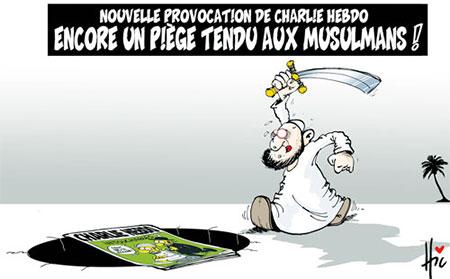 Nouvelle provocation de charlie hebdo: Encore un piège tendu aux musulmans - Dessins et Caricatures, Le Hic - El Watan - Gagdz.com