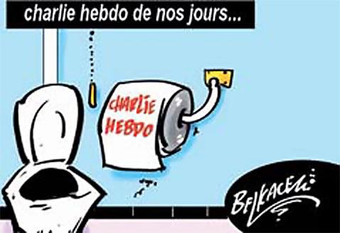 Charlie hebdo de nos jours - Belkacem - Le Courrier d'Algérie, Dessins et Caricatures - Gagdz.com
