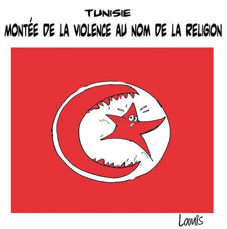 Tunisie: Montée de la violence au nom de la religion - Dessins et Caricatures, Lounis Le jour d'Algérie - Gagdz.com