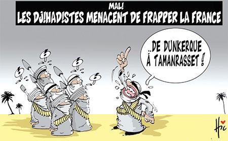 Mali: Les djihadistes menacent de frapper la France - Dessins et Caricatures, Le Hic - El Watan - Gagdz.com