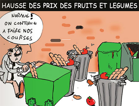 Hausse des prix des fruits et lègumes - Dessins et Caricatures, Jony-Mar - La voix de l'Oranie - Gagdz.com