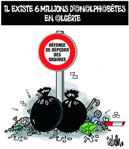 Il existe 6 millions d'analphabetes en Algérie