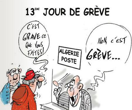 13ème jour de grève - Dessins et Caricatures, Jony-Mar - La voix de l'Oranie - Gagdz.com