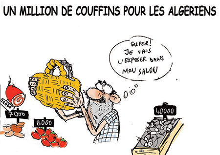 Un million de couffins pour les Algériens - Dessins et Caricatures, Jony-Mar - La voix de l'Oranie - Gagdz.com