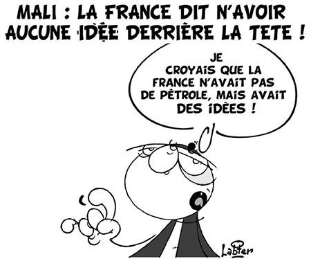 Mali: La France di n'avoir aucune idée derrière la tête - Dessins et Caricatures, Vitamine - Le Soir d'Algérie - Gagdz.com
