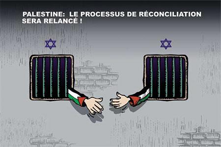 Palestine: Le processus de réconciliation sera relancé - Dessins et Caricatures, Ghir Hak - Les Débats - Gagdz.com