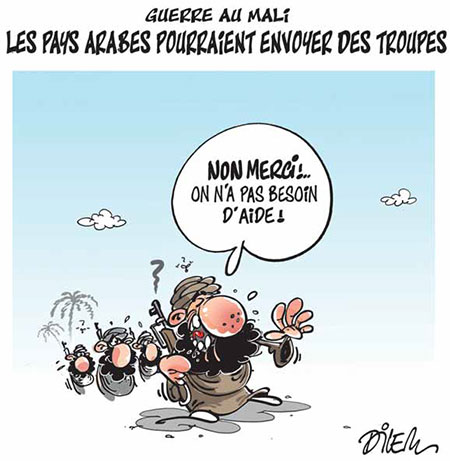 Guerre au Mali: Les pays arabes pourraient envoyer des troupes - Dessins et Caricatures, Dilem - Liberté - Gagdz.com