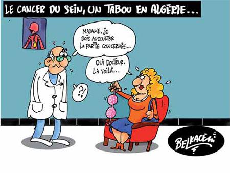 Le cancer du sein, un tabou en Algérie - Belkacem - Le Courrier d'Algérie, Dessins et Caricatures - Gagdz.com