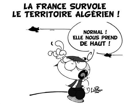 La France survole le territoire algérien - Dessins et Caricatures, Vitamine - Le Soir d'Algérie - Gagdz.com