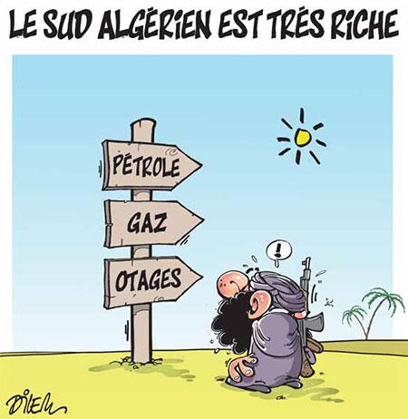 Le sud algérien est très riche - Dessins et Caricatures, Dilem - Liberté - Gagdz.com