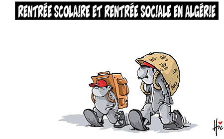 Rentrée scolaire et rentrée sociale en Algérie - Dessins et Caricatures, Le Hic - El Watan - Gagdz.com