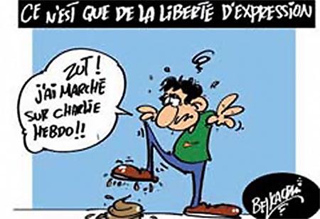 Ce n'est que de la liberté d'expression - Belkacem - Le Courrier d'Algérie, Dessins et Caricatures - Gagdz.com