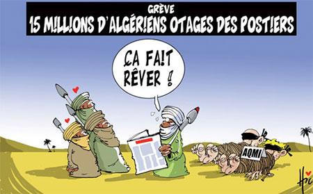 Grève: 15 millions d'algériens otages des postiers - Dessins et Caricatures, Le Hic - El Watan - Gagdz.com