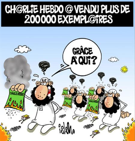 Charlie hebdo a vendu plus de 200 000 exemplaires - Dessins et Caricatures, Islem - Le Temps d'Algérie - Gagdz.com