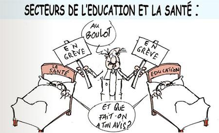 Secteurs de l'éducation et la santé - Dessins et Caricatures, Jony-Mar - La voix de l'Oranie - Gagdz.com