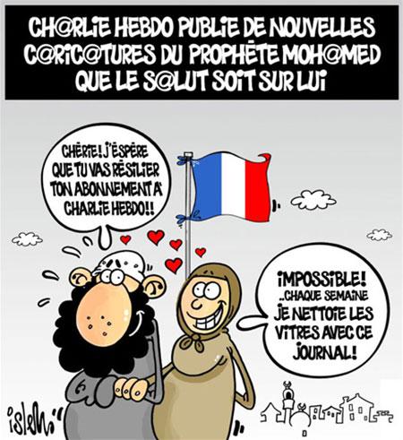 Charlie hebdo publie de nouvelles caricatures du prophète Mohamed que le salut soit sur lui - Dessins et Caricatures, Islem - Le Temps d'Algérie - Gagdz.com