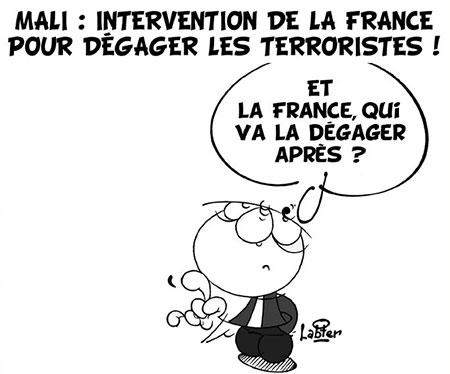 Mali: Intervention de la France pour dégager les terroristes - Dessins et Caricatures, Vitamine - Le Soir d'Algérie - Gagdz.com