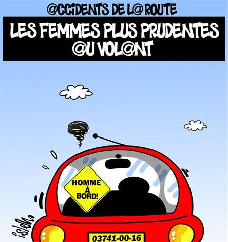 Accidents de la route: Les femmes plus prudentes au volant - Dessins et Caricatures, Islem - Le Temps d'Algérie - Gagdz.com