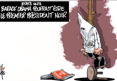 Etat unis: Barak Obama pourrait etre le premier président noir - Dessins et Caricatures, Le Hic - El Watan - Gagdz.com