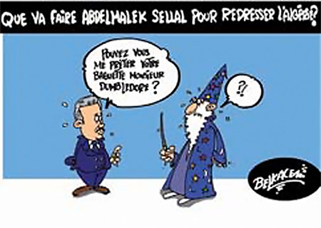 Que va faire Abdelmalek Sellal pour redresser l'Algérie - Belkacem - Le Courrier d'Algérie, Dessins et Caricatures - Gagdz.com