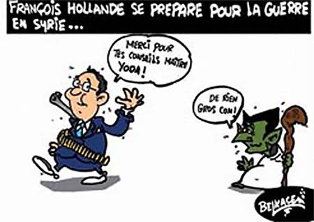 François Hollande se prépare pour la guerre en Syrie