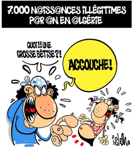 7000 naissances illégitimes par an en Algérie - Dessins et Caricatures, Islem - Le Temps d'Algérie - Gagdz.com