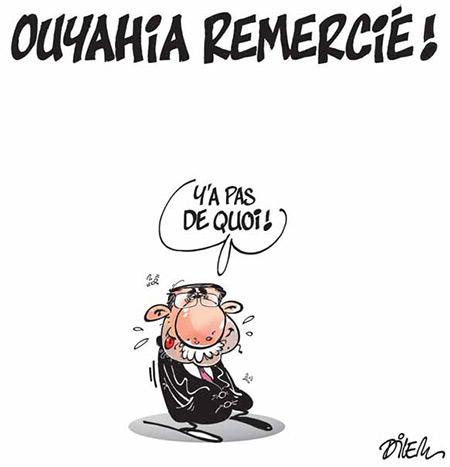 Ouyahia remercié - Dessins et Caricatures, Dilem - Liberté - Gagdz.com