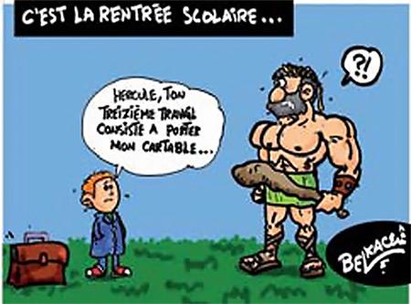 C'est la rentrée scolaire - Belkacem - Le Courrier d'Algérie, Dessins et Caricatures - Gagdz.com