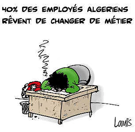 40% des employés algériens rêvent de changer de métier